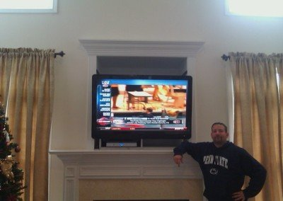fireplace nook niche tv mounting satisfied customer