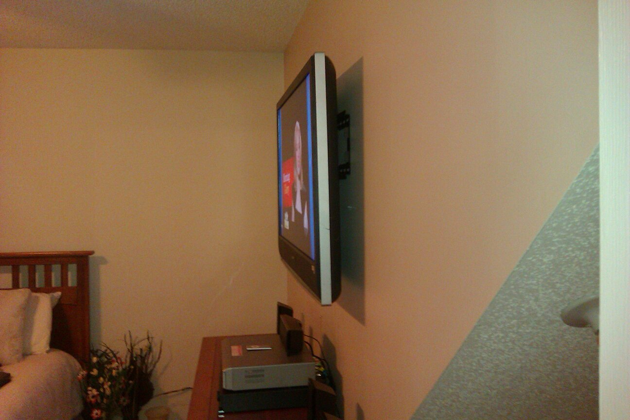 TV mounting ultra slim tilt mount installation