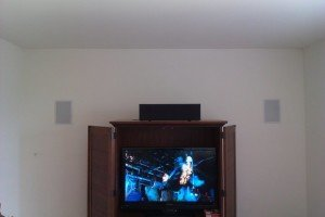 in wall speaker installation