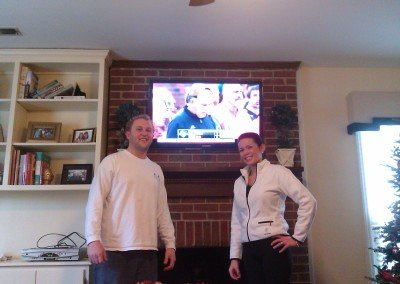 Fireplace TV mounting with satisfied customers