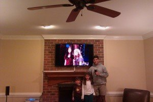 Brick Fireplace TV Mounting