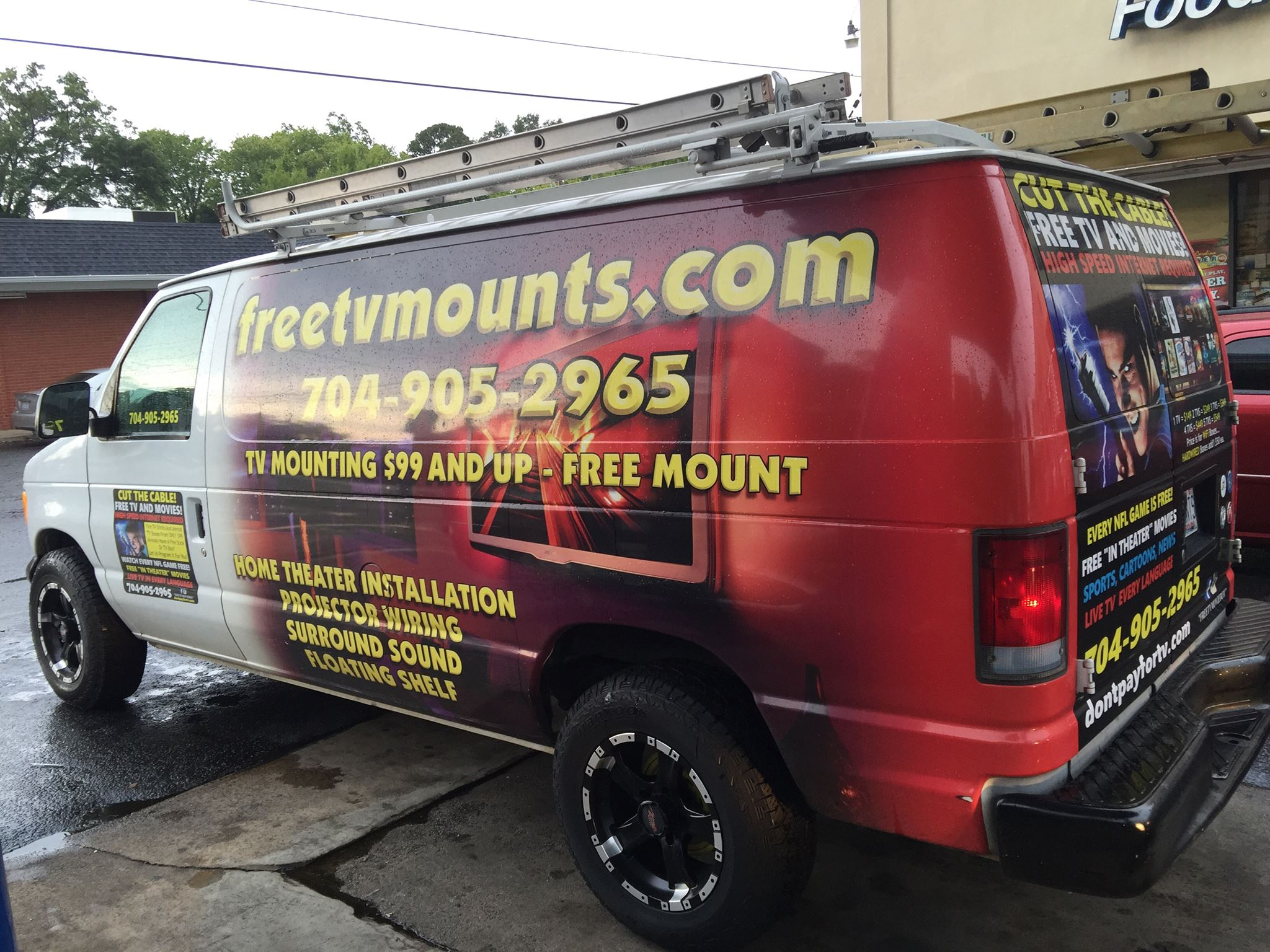 tv mounting service van