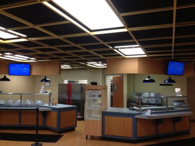 JCSU college cafeteria commercial tv installation