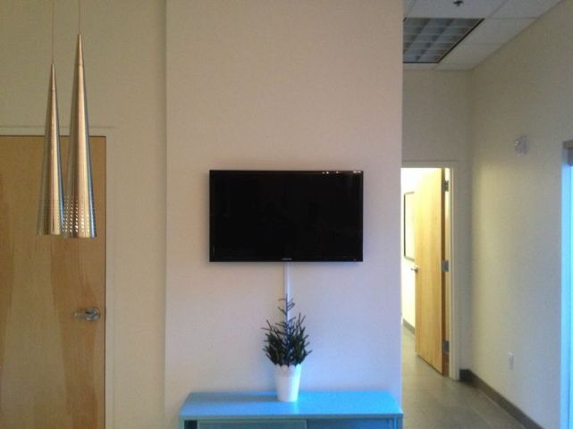 office sitting area commercial tv installation