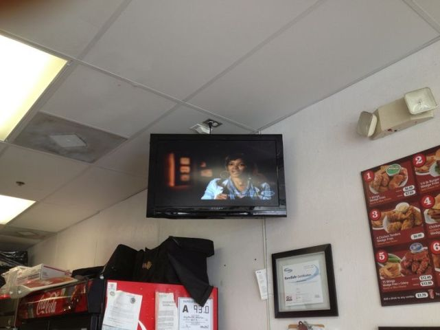 Wing Zone commercial tv installation