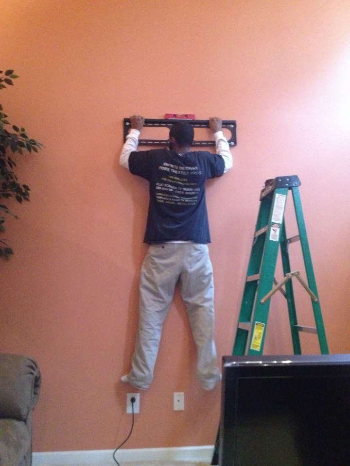 tv mounting service weight test