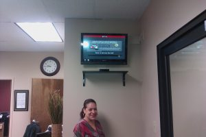 commercial tv wall mounting service satisfied customer