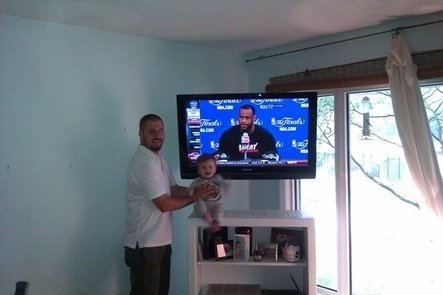 tv mounting service satisfied customer
