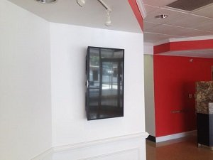 restaurant commercial tv installation