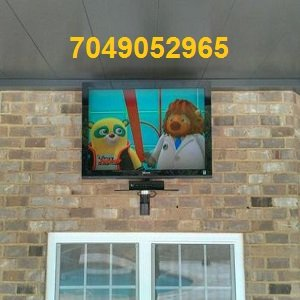outdoor tv mounting on brick
