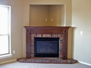 fireplace nook niche tv mounting space