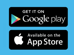 Google Play Store and iOS Apple iTunes Store logos