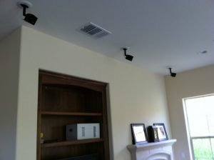 satellite speaker installation with mounts