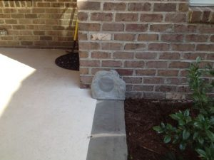 outdoor rock speaker installation