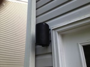outdoor speaker installation