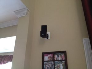 satellite speaker installation with speaker mounts